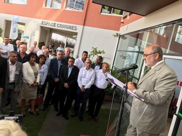 François Javel, Pdg de la Nordev, lors de discours d'inauguration du Salon de la Maison. © Mémento